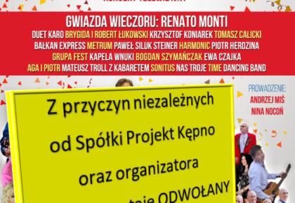 """Koncert telewizyjny """"Andrzejki z TVS"""" odwołany"""