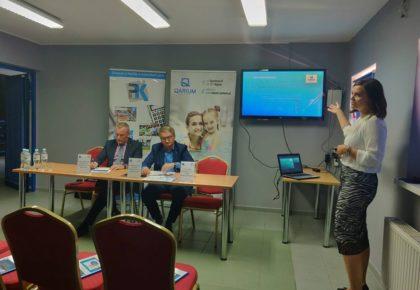 Konferencja prasowa poświęcona funkcjonowaniu na rynku krytej pływalni QARIUM Kępno