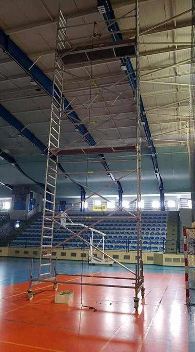 Kolejne prace modernizacyjne w obiekcie hali widowiskowo-sportowej w Kępnie