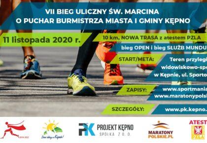 Zapisy na VII Bieg Uliczny św. Marcina o Puchar Burmistrza Miasta i Gminy Kępno