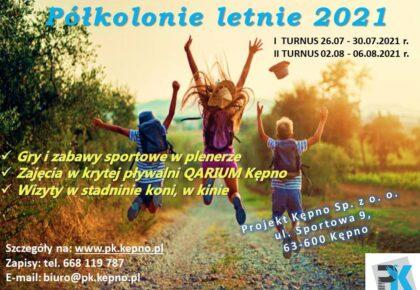 Półkolonie letnie 2021 z Projekt Kępno