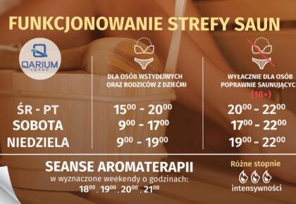 Zapraszamy do STREFY SAUN w Qarium Kępno!